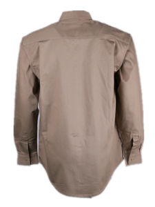 Wholesale Khaki Fireproof Safety Shirt Clothing for Oil Welder pictures & photos