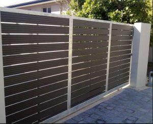 Weather-Resistant WPC Door Hot Sale Wood Plastic Composite Garden WPC Gate pictures & photos