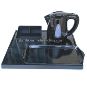 0.8L Plastic Electric Kettle with Transparent Water Window for Hotel pictures & photos