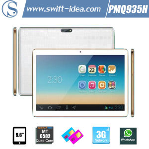 9.6 Inch IPS Mtk6582 Quad Core Dual SIM 3G Android 4.4 5000mAh Battery Tablet PC (PMQ935H)