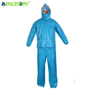 Outdoor Nylon PVC Rainsuit pictures & photos