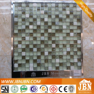 Ice Crack Green Glass Mosaic and White Stone Mosaic (M815047) pictures & photos