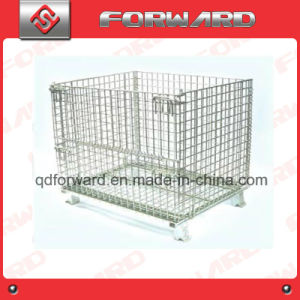 Folding Stackable Wire Mesh Metal Storage Stacking Container Storage Cage pictures & photos