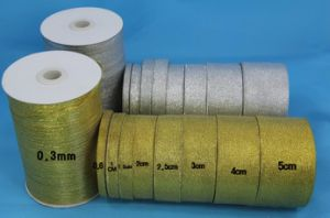 Gold and Silver Metallic Ribbon pictures & photos