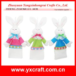 Easter Decoration (ZY14C968-1-2-3 34CM) Easter Bunny Wine Decoration pictures & photos