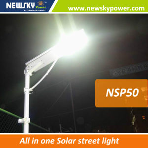 60W APP Bluetooth Integrated All in One Solar LED Street Light pictures & photos