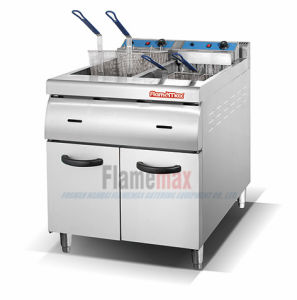 2-Tank 4-Basket Electric Fryer with Cabinet (HEF-70) pictures & photos