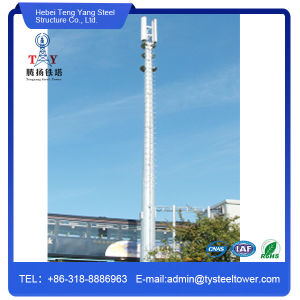 Galvanized Telecommunication Single Pipe Antenna Tower pictures & photos