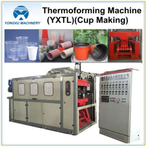 Plastic Drinking Cup Forming Machine Cam System (YXTL 750*500) pictures & photos