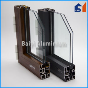 Hot Sale Style Aluminum Wood Grain Tranfer Meeting Stile for Casement Window/Door