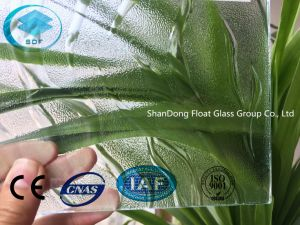 Clear Flawe Patterned Glass with Ce, ISO (3-8mm) pictures & photos