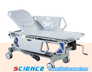 Luxurious Manual up/Down Hospital Emergency Trolley pictures & photos