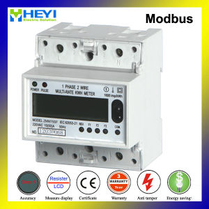 Single Phase DIN Rail Multi Tariff Kwh Meter with Modbus pictures & photos