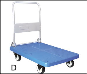 Mute Handcart with Fixed Armrest (noiseless) pictures & photos