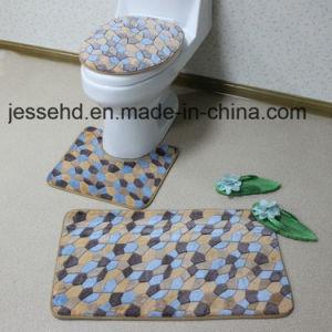 Washable Coral Fleece Mat 3PCS Bathroom Mat Set pictures & photos