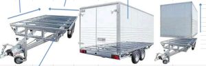 10T Four-Axle Flatbed Full Trailer (R3088T)