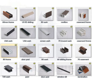 Different Series PVC Profile for Casement and Sliding pictures & photos