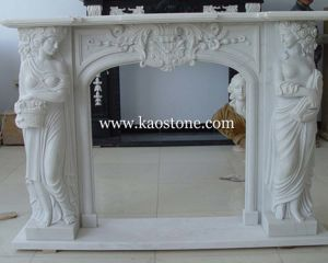 Natural Stone Fireplace Surround, Fireplace Mantel, Marble Fireplace, Indoor Fireplace pictures & photos