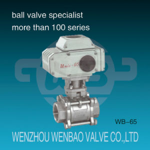 Motorized 3-Piece 316 Ball Valve with Electric Actuator pictures & photos
