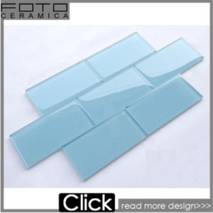 Blue Glass Subway Ceramic Mosaic Tiles