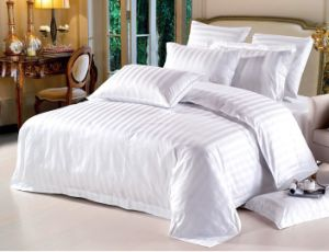 Polyester Cotton Hotel Hospital Ward Use White Bedding Set pictures & photos