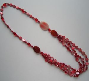 Long Multi Stands Crystal Beads Necklace pictures & photos