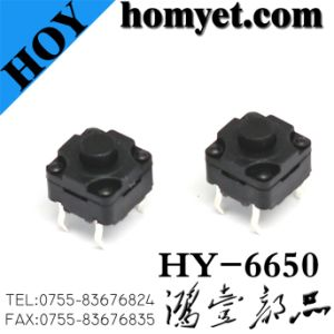 High Quality 6*6*5mm Waterproof Tact Switch with 4pin DIP (HY-6650) pictures & photos