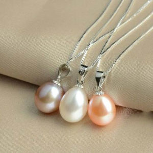 925 Sterling Silver Drop Freshwater Pearl Pendant, Pearl Jewelry pictures & photos
