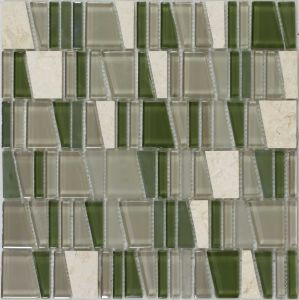 Crystal Vs Stone Mosaic Mixture Tile (LADDER-C42)