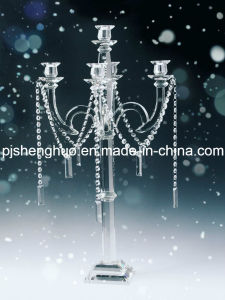 Unique Design and Elegant Wedding Crystal Candleholders Colored Candlestick
