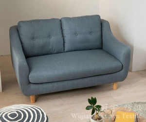 Imitation Linen 100% Polyester Linen Looks Sofa Fabrics pictures & photos