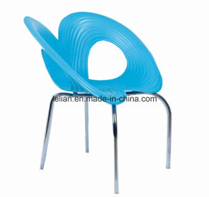modern Fashion Plastic Metal Stacking Chair pictures & photos