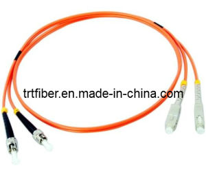Sc/Upc-St/Upc Mm Dx Fiber Patch Cable pictures & photos