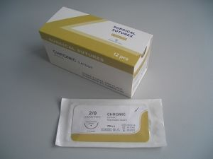 High Quality Chromic Catgut Absorbable Surgical Suture with CE &ISO pictures & photos