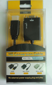 Conversion Cable HDMI to VGA (with audio) pictures & photos