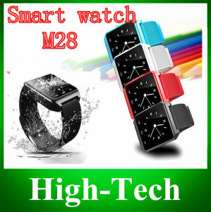 "2014 Newest M28 Bluetooth Smart Watch 1.4"" Screen Connecting with Android Smart Phone by Bluetooth Hot Sale"