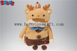 "19.6""Brown Deer Shape Children′s Plush Cartoon Backpack Backpack Kindergarten Pupils Bags Bos1225/50cm pictures & photos"