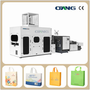 Non Woven Laminated Box Bag Making Machine pictures & photos