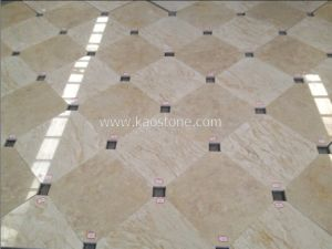 Polished Natural Beige Stone Marble Flooring pictures & photos