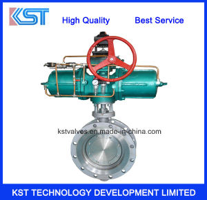 Flanged Bi-Direction Triple Eccentric Butterfly Valve with Pneumatic Actuator
