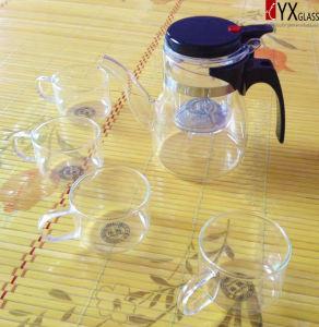 600ml Elegant Glass Teapot/Glass Tea Maker/Press Art Glass Teapot pictures & photos