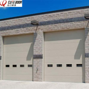 Industrial Sectional Overhead Lifting Security Galvanized Panel Garage Door pictures & photos