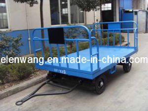 Two Rails Baggage Cart Airport Transport Trolley pictures & photos