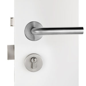 Entrance Door Lock with handle Lockset Plated in Satin Stainless Steel pictures & photos