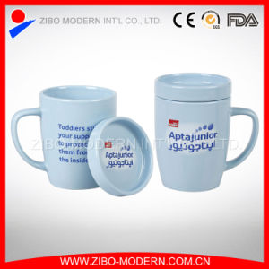 Color Glazed Coffee Ceramic Mug and Lid with Logo Designs pictures & photos
