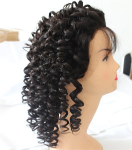 Curly Brazilian Remy Hair Wig Full Lace Wig with Baby Hair pictures & photos