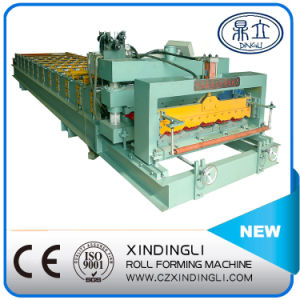 Automatic Color Steel Double Deck Roofing Sheet Roll Forming Machine pictures & photos