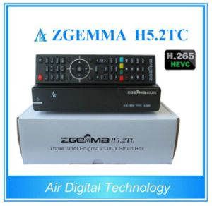 Newest Combo Satellite Receiver Zgemma H5.2tc with DVB-S2 + 2 * DVB-T2/C Three Tuners H. 265 Hevc Satellite Decoder pictures & photos