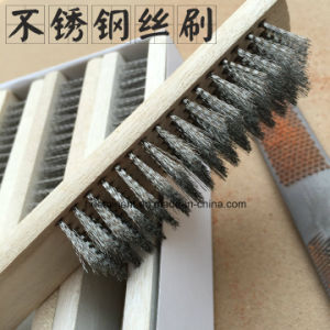 Steel Wire Hand Brushes with Wooden Handle pictures & photos