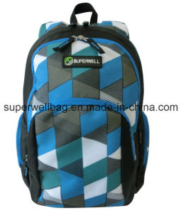 600d/PU School Backpack Bag with Good Price pictures & photos